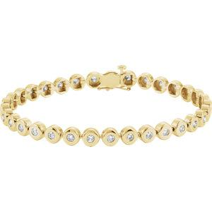 "14K Yellow Gold 2 CTW Diamond Line 7.25"" Bracelet"