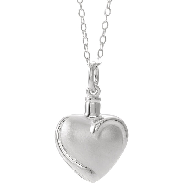 "Sterling Silver Heart Ash Holder 18"" Necklace - Pranic Lifestyle"