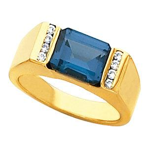 14K Yellow Gold Emerald Ring - Pranic Lifestyle