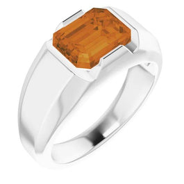 Citrine Prosperity Power Ring for Men - Pranic Lifestyle