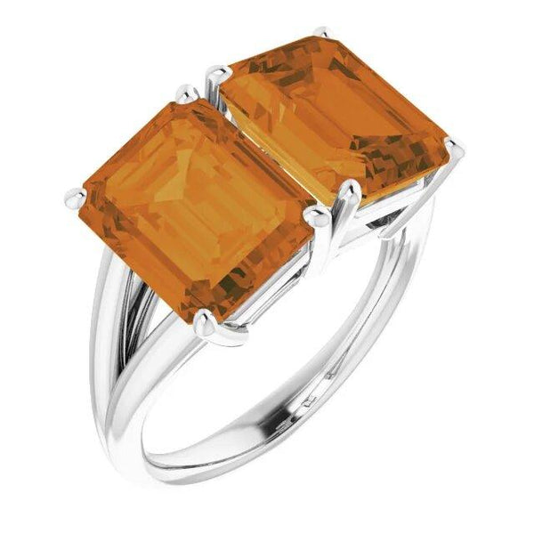 Citrine Prosperity Power Ring for Women - Style 1 - Pranic Lifestyle