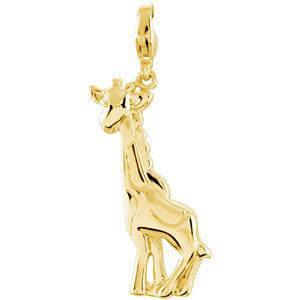 Charming Animals® Giraffe Charm - 14k Yellow Gold - Pranic Lifestyle