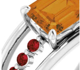 Citrine Prosperity Power Ring for Women - Style 2 - Pranic Lifestyle