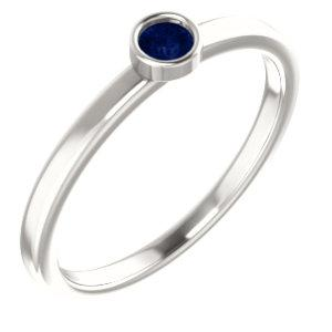 Sterling Silver Blue Sapphire Ring - Pranic Lifestyle