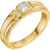 14K Yellow 1/3 CTW Diamond Men's Ring