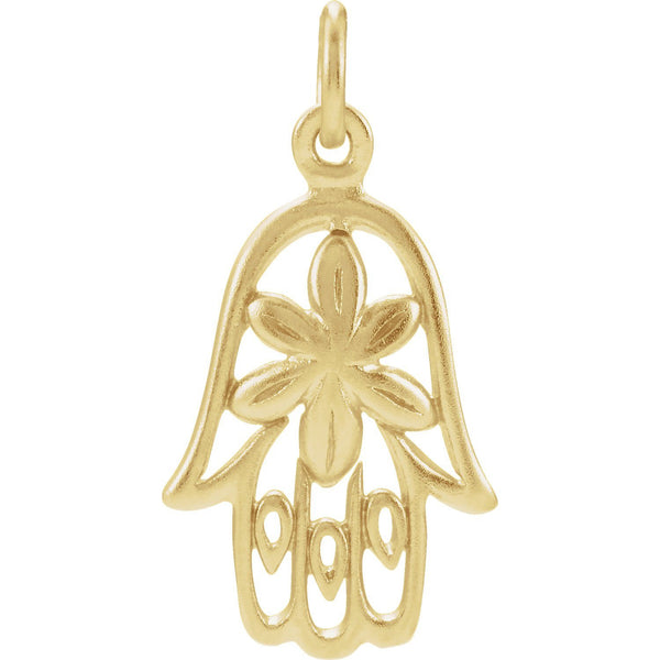 Sterling Silver Plated with 24K Gold Hamsa Charm - Pranic Lifestyle