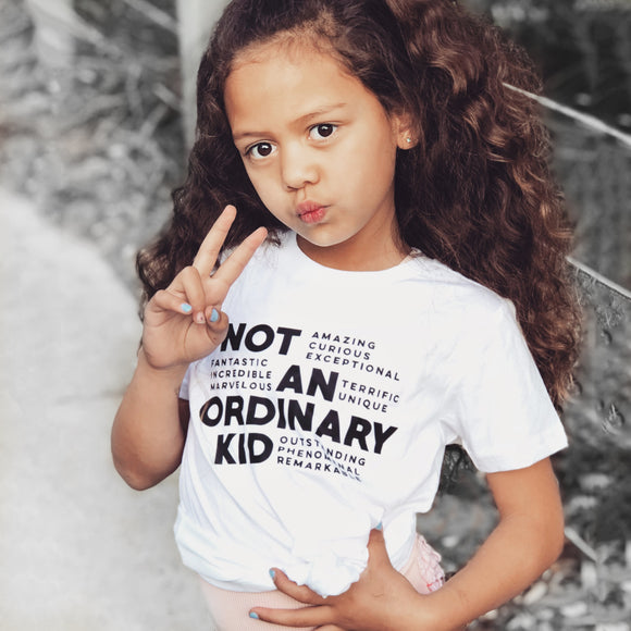 NOT AN ORDINARY KID Short Sleve T-shirt - FABVOKAB
