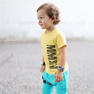 LIMITED EDITION Custom Yellow Short Sleve Kids T-shirt - FABVOKAB