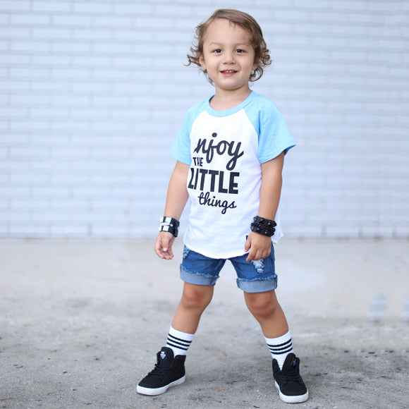 Enjoy the Little Things Short Sleeve Kids T-shirt - FABVOKAB