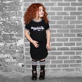 IMAGINATION HAS NO LIMIT GIRLS BLACK DRESS - FABVOKAB