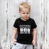 FUTURE SCIENTIST MAMA'S BOY NOW Short Sleeve T-shirt - FABVOKAB
