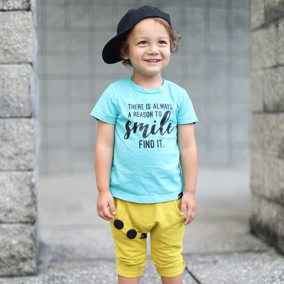 REASON TO SMILE Aqua Short Sleve T-shirt - FABVOKAB