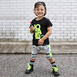LOVABLE (CUDDLE MONSTER) VIBRANT NEON GREEN Short Sleeve T-shirt - FABVOKAB