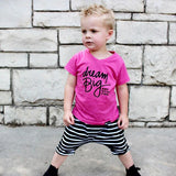 DREAM BIG AND WEAR PINK. Kids PINK graphic tee - FABVOKAB