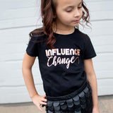 INFLUENCE CHANGE in Copper Foil Short Sleeve T-shirt - FABVOKAB