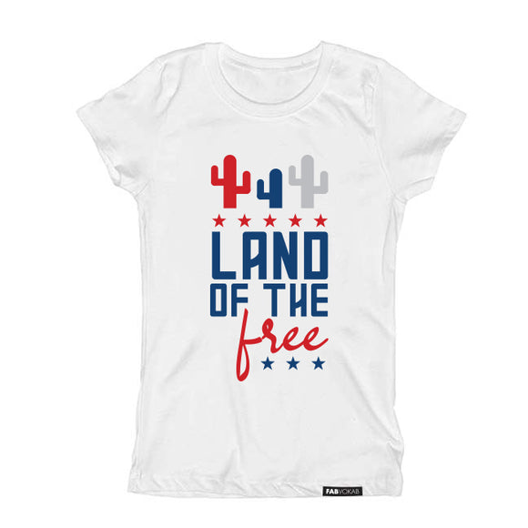 LAND OF THE FREE Short Sleeve Kids Teen T-shirt