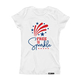 FREE TO SPARKLE Short Sleeve Kids Teen T-shirt