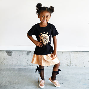 DON'T LET ANYBODY STEAL YOUR SHINE in Copper Foil Short Sleeve T-shirt - FABVOKAB