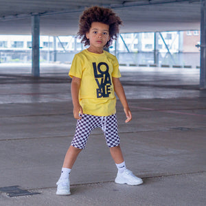 LOVABLE Yellow Short Sleve Kids T-shirt - FABVOKAB