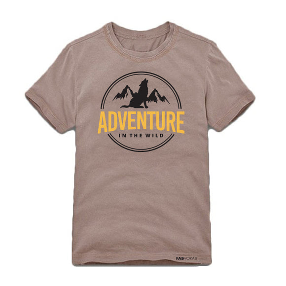 ADVENTURE IN THE WILD Kids, Teen Short Sleeve T-shirt