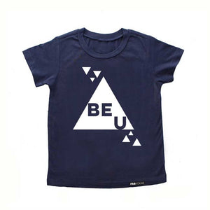 BE U Blue Short Sleeve T-shirt - FABVOKAB