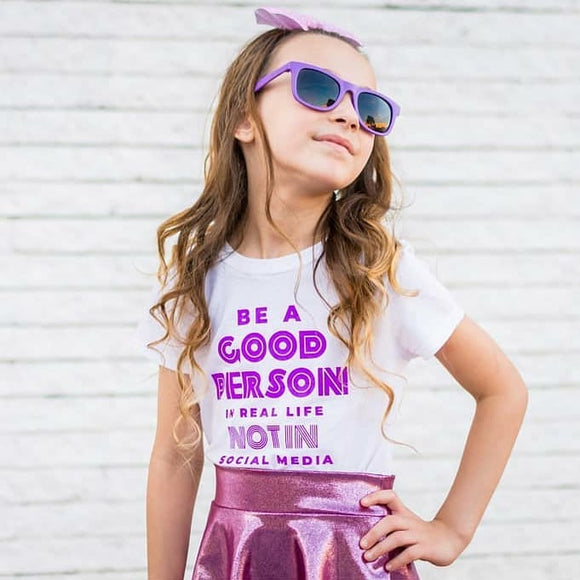 BE A GOOD PERSON  Kids, Girls, Boys, Teen Short Sleeve graphic T-shirt