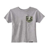 CUSTOM CAMO POCKET WITH INITIAL Short Sleeve T-shirt - FABVOKAB