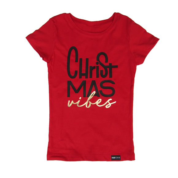 CHRISTMAS VIBES Short Sleeve T-shirt - FABVOKAB