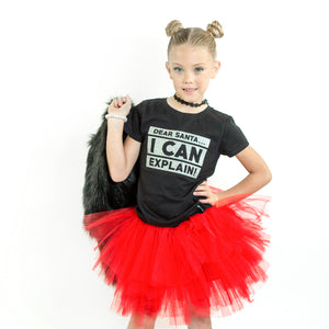 RED GIRLS TUTU SKIRT - FABVOKAB