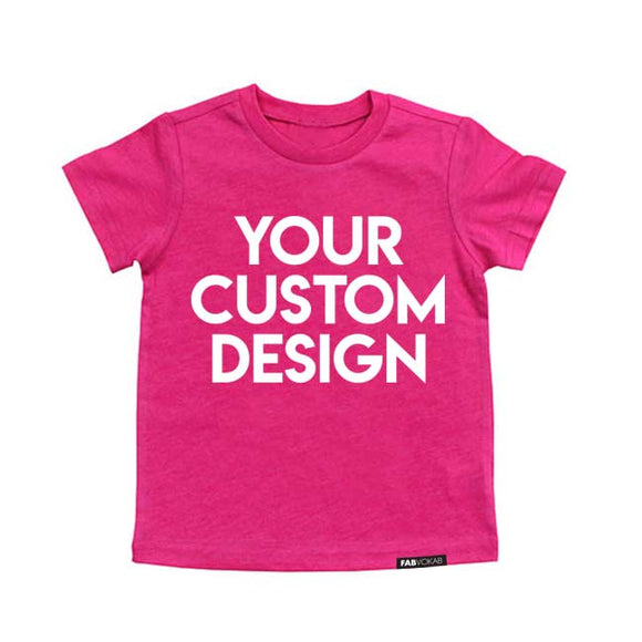 CUSTOM DESIGN kids PINK graphic tee - FABVOKAB