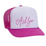 CUSTOM NAME KIDS Snapback Trucker Hat (3 colors available) - FABVOKAB