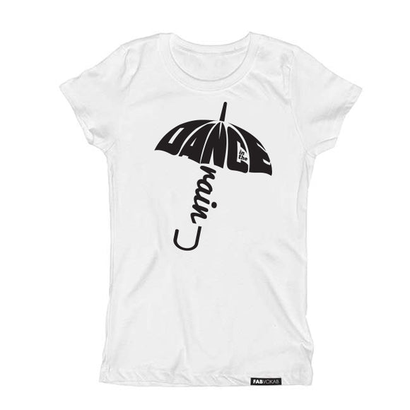 Dance in the rain Kids Short Sleeve graphic T-shirt - FABVOKAB