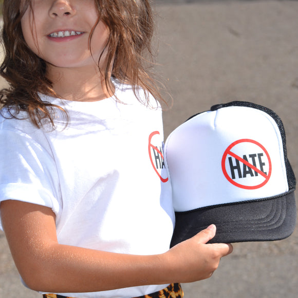 STOP THE HATE KIDS Snapback Trucker Hat - FABVOKAB