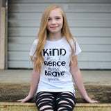KIND HEART, FIERCE MIND BRAVE SPIRIT Short Sleeve T-shirt - FABVOKAB
