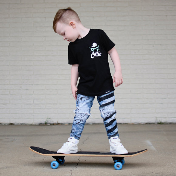 PERSONALIZED SKATER SHIRT  Short Sleeve T-shirt - FABVOKAB