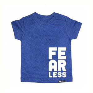 FEARLESS Blue Short Sleve T-shirt - FABVOKAB