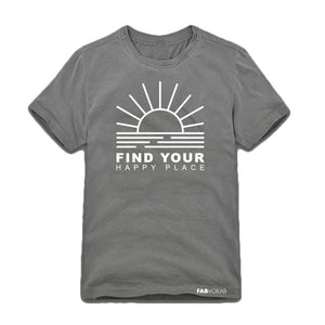 FIND YOUR HAPPY PLACE Kids, Teen Short Sleeve T-shirt