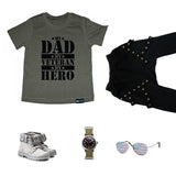 MY DAD MY VETERAN MY HERO Green Short Sleve T-shirt - FABVOKAB