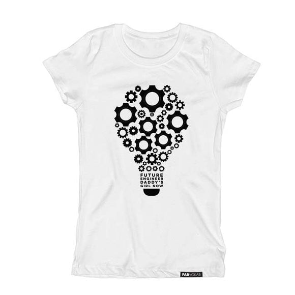 FUTURE SCIENTIST DADDY'S GIRL NOW Short Sleeve T-shirt - FABVOKAB