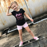 DREAM BIG AND WEAR PINK, PINK FOIL Short Sleeve T-shirt - FABVOKAB