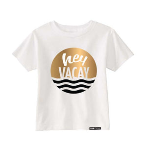 HEY VACAY Copper Foil Short Sleeve T-shirt - FABVOKAB