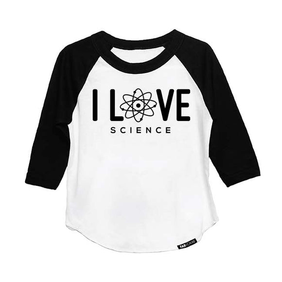 I LOVE SCIENCE RAGLAN - FABVOKAB
