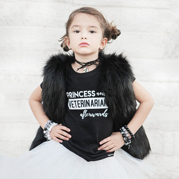 PRINCESS NOW VET AFTERWARDS Short Sleeve T-shirt - FABVOKAB