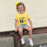 DON'T BE THE SAME BE BETTER Yellow Short Sleeve Kids T-shirt - FABVOKAB