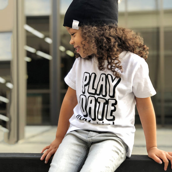 PLAY DATE MATERIAL Kids Short Sleeve graphic T-shirt - FABVOKAB