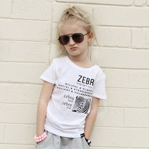 ZEBRA MULTI-LANGUAGE Short Sleeve T-shirt - FABVOKAB