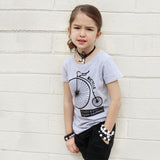 RETRO BIKE multi-language Short Sleve T-shirt - FABVOKAB
