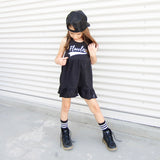 FLAWLESS GIRLS BLACK TANK DRESS (only size 6x) - FABVOKAB