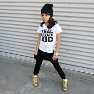 REAL ESTATE KID Short Sleeve Kids T-shirt - FABVOKAB