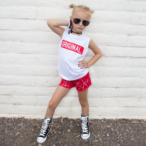 ORIGINAL in Red Unisex Kids Sleeveless Top - FABVOKAB